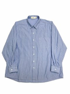 【Box Over Regular Shirt】blue stripe