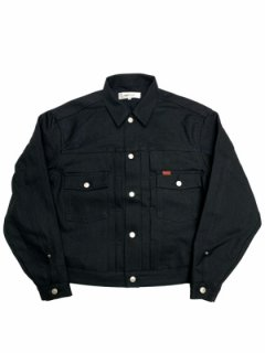 【TRUCK DENIM JACKET】RIGID - BLACK -