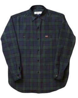 【Plaid Cotton Nel Shirt】