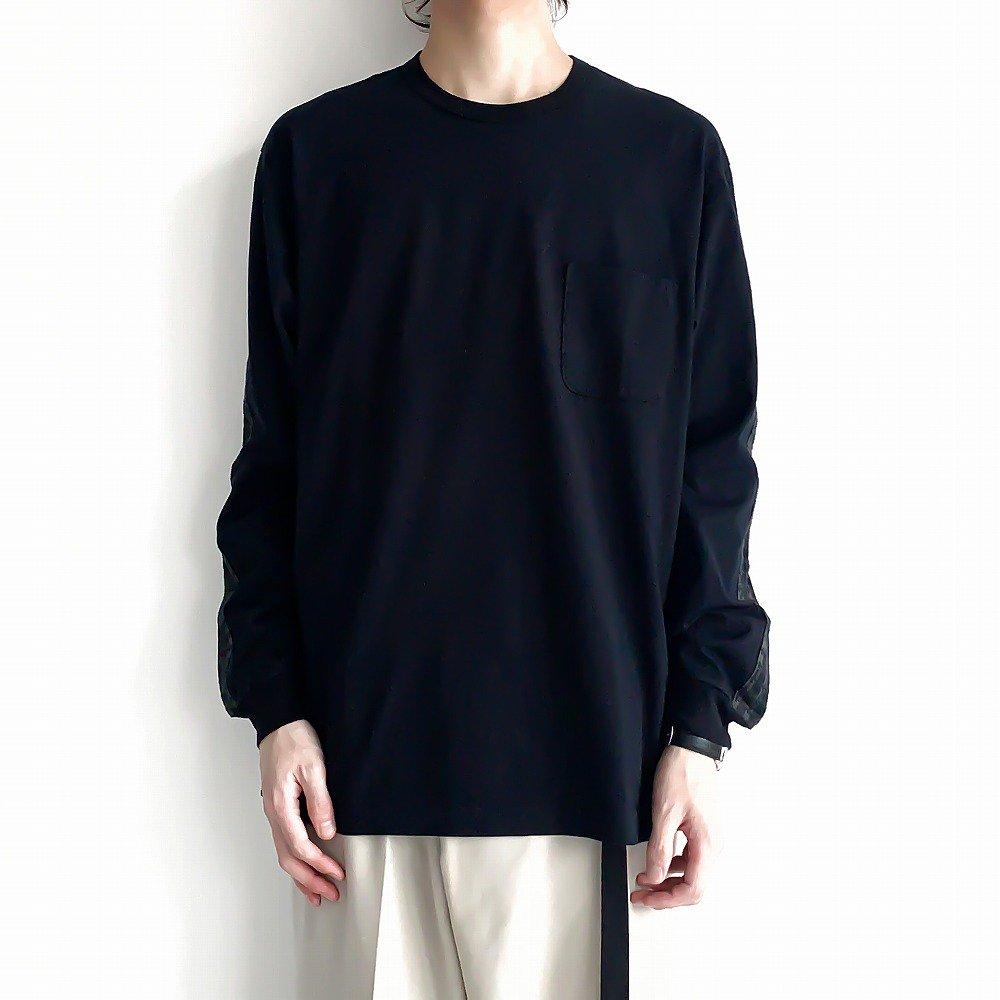 <img class='new_mark_img1' src='https://img.shop-pro.jp/img/new/icons57.gif' style='border:none;display:inline;margin:0px;padding:0px;width:auto;' />kuon タータントリミングロングティーシャツ sus4-2002-cs0319 color:B(black)