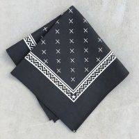 lateuk original BANDANA BLACK&WHITE(Heavy)