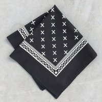 lateuk original BANDANA BLACK&WHITE(Thin)