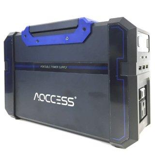 AQCCESS ポータブル電源 大容量 120000mAh/444Wh ソーラーチャージ対応 AQ710SB スマホ 充電 充電器 緊急電源 キャンプ アウトドア 防災グッズ 非常用電源 PSE認証