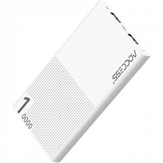 AQCCESS モバイルバッテリー 10000mAh AQ627AP-KN スマホ タブレット 充電 軽量 大容量