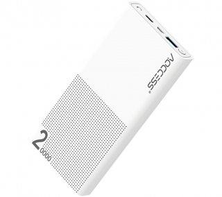 モバイルバッテリー 大容量 20000mAh AQ627AP-K AQCCESS スマホ タブレット 軽量