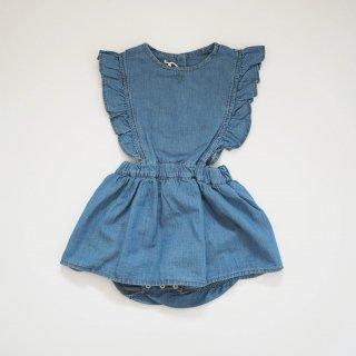 <img class='new_mark_img1' src='https://img.shop-pro.jp/img/new/icons20.gif' style='border:none;display:inline;margin:0px;padding:0px;width:auto;' />●70%off●<br>ocoto vintage<br>light denim baby body dress<br>denim(6m,18m)