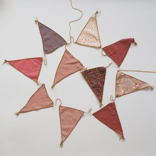 Numero74<br>bunting garland fabric<br>mix pink