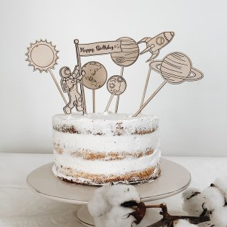 carpe diem<br>universe cake topper