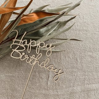 carpe diem<br>happy birthday cake topper