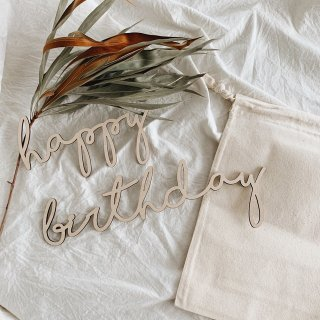 carpe diem<br>happy birthday letter banner<br>wood classic