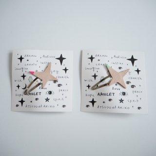ATSUYO ET AKiKO<br>amulet star hiar pin<br>natural