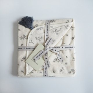 garbo&friends<br>baby hooded towel<br>bluebell