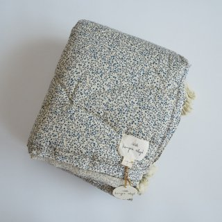 Konges Slojd<br>baby quilt cotton<br>blue blossom mist