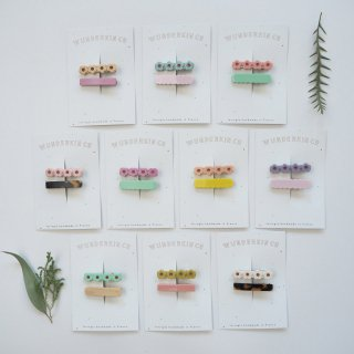 Wunderkin Co.<br>hair clips<br>2pcs set (10types)