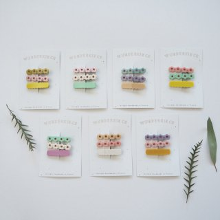 Wunderkin Co.<br>hair clips<br>3pcs set (7types)