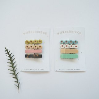 Wunderkin Co.<br>hair clips<br>4pcs set (2types)