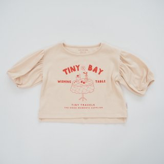 TINYCOTTONS<br>wishing table blouse<br>pastel pink red<br>(2y,3y,4y,6y)