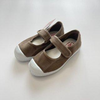 Cienta<br>velcro one strap shoes<br>beige/ムラ染め<br>22(13cm)〜29(18cm)