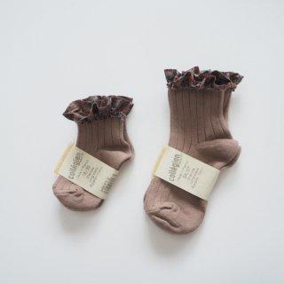 Collegien<br>liberty ruffle short socks<br>2colors<br>(18/20,21/23,24/27,28/31)