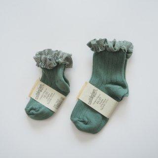 Collegien<br>check ruffle short socks<br>3colors<br>(18/20,21/23,24/27,28/31)