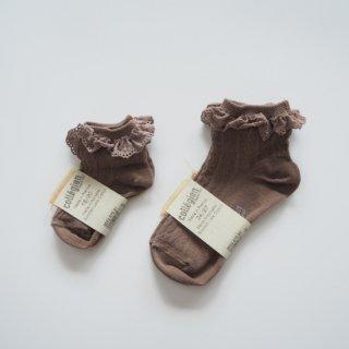 Collegien<br>race ruffle short socks<br>2colors<br>(18/20,21/23,24/27,28/31)