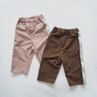 <img class='new_mark_img1' src='https://img.shop-pro.jp/img/new/icons14.gif' style='border:none;display:inline;margin:0px;padding:0px;width:auto;' />nunuforme<br>side tape straight pants<br>pink / brown<br>(95,105,115,125)
