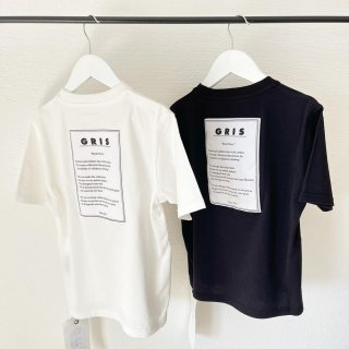 "GRIS<br>""Policy name""big T-shirt<br>white / black<br>(S,M,L)"