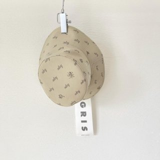 "GRIS<br>bucket hat ""HOPE GARDEN""<br>beige charcoal<br>(54cm,58cm)"