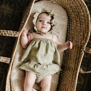 <img class='new_mark_img1' src='https://img.shop-pro.jp/img/new/icons14.gif' style='border:none;display:inline;margin:0px;padding:0px;width:auto;' />Bebe Organic<br>olivia baby set<br>natural green<br>(12m,18m)