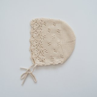 Bebe Organic<br>summer bonnet<br>natural<br>(9-12m,18-24m)