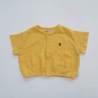 TINYCOTTONS<br>waves crop shirt<br>yellow iris blue<br>(2y,3y,4y,6y)