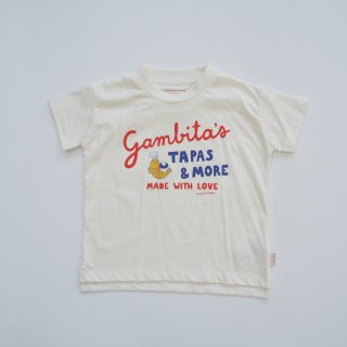TINYCOTTONS<br>gambita's graphic tee<br>off white red<br>(2y,3y,4y,6y)