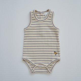 TINYCOTTONS<br>bird stripes body<br>light cream<br>(9m,12m)