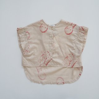 folkmade<br>face print blouse<br>beige<br>(S,M,L,LL)