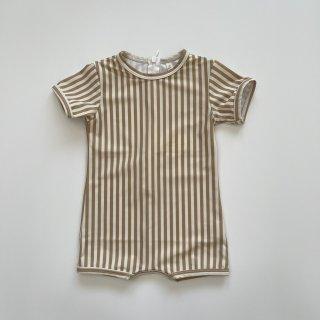 Rylee + Cru<br>stripe shorty onepiece<br>almond<br>(12-18m,18-24m,2-3y)