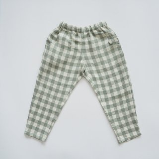 Nellie Quats<br>jumping jack trousers<br>pistachio check<br>(18-24m,3-4y,5-6y,7-8y)