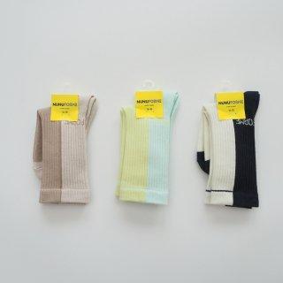 nunuforme<br>socks<br>3colors<br>(16-18cm,19-21cm)