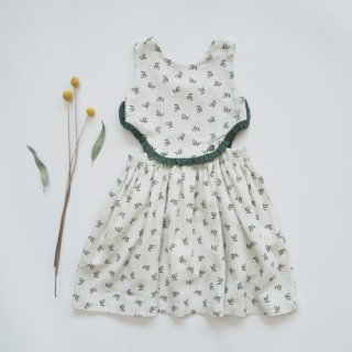 KOKORI<br>sydney dress<br>olive leaf print<br>(2y,4y,6y)