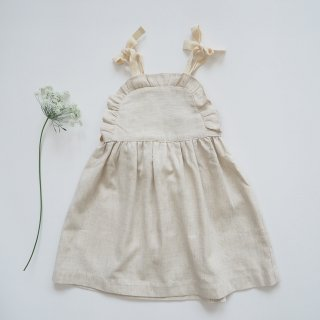 KOKORI<br>apron dress<br>stone beige<br>(2y,4y,6y)