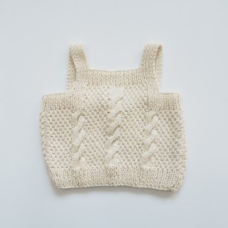 KOKORI<br>sienna top handknitted<br>milk<br>(2y,4y)