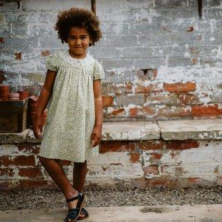 little cotton clothes<br>alma dress<br>blossom floral samphire<br>(2-3y,3-4y,4-5y,5-6y,6-7y)