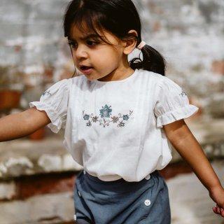 little cotton clothes<br>hilda embroidered blouse<br>(18-24m,2-3y,3-4y,4-5y,6-7y)