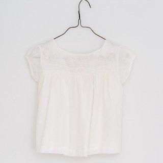 little cotton clothes<br>jocelyn blouse<br>embroidered yoke ivory<br>(2-3y,3-4y,4-5y,5-6y,6-7y)