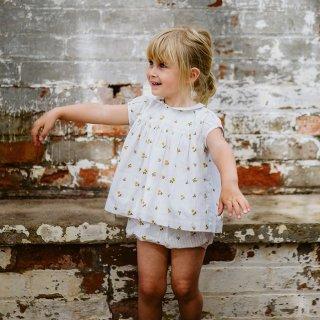 little cotton clothes<br>juno blouse<br>clover floral<br>(18-24m,2-3y,3-4y,4-5y,5-6y,6-7y)