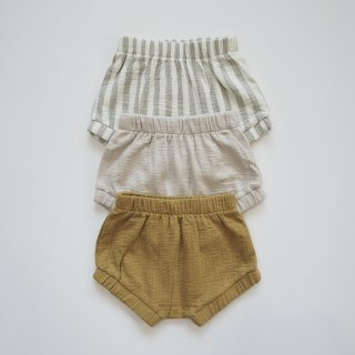 QUINCY MAE<br>woven bloomer<br>sage / ash / gold<br>(6-12m,12-18m)
