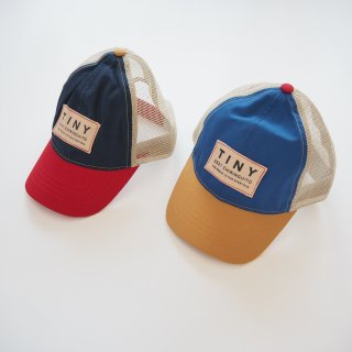 TINYCOTTONS<br>color block tiny cap<br>ink blue red / iris blue honey<br>(M,L)