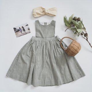House of Paloma<br>paloma dress<br>olive gingham<br>(2y,3y,4y,5y,6y,7y)