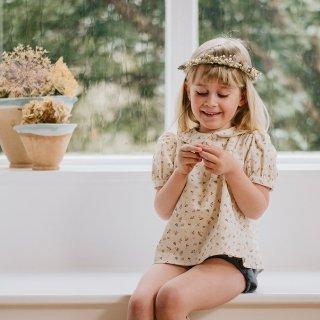 little cotton clothes<br>myrtle blouse<br>petal floral<br>(2-3y,3-4y,4-5y,5-6y,6-7y)