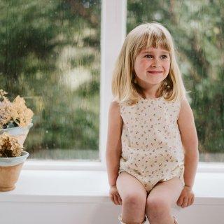 little cotton clothes<br>kaite romper<br>petal floral<br>(12-18m,18-24m)