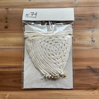 Numero74<br>bunting garland crochet<br>natural